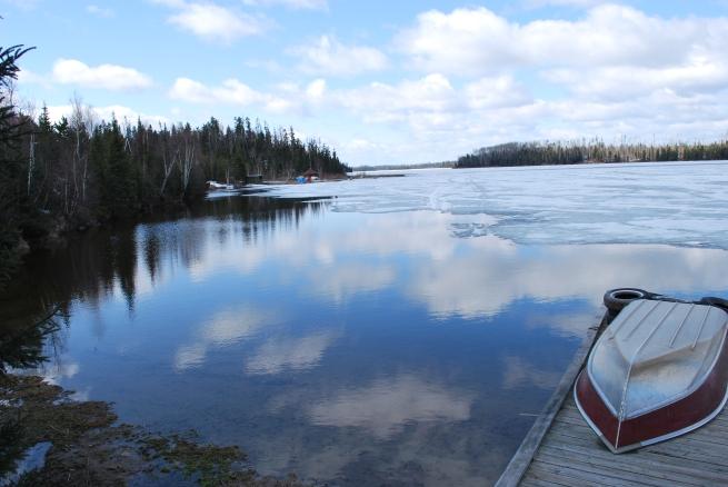 Creeks join on Mattice Lake May 1st